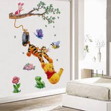online get cheap wall sticker pooh home decor aliexpress com diy cheap 3d winnie the pooh kids bedroom wall stickers removable nursery wall decals home decor