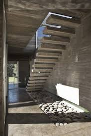 Cement Stairs Design Exterior Concrete Cantilevered Stair Frontal Overview Stairs