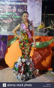 malabon philippines 26th oct 2016 gowns made out of recycled