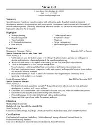Sample Resume For Special Education Teacher by Download Sample Resume For Leadership Position