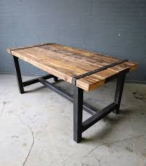 table de cuisine 8 places reclaimed industrial chic 6 8 seater solid wood and metal