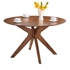 Modern Round Dining Table by Round Walnut Dining Table