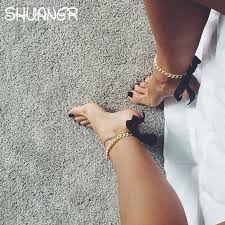 fashion ankle bracelet images Shuangr fashion foot jewelry ankle bracelet for women yellow gold jpg