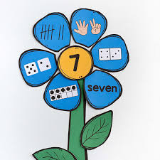 printable flower number matching activity