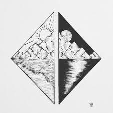 tattoo u2022 diamond u0026 landscape u2022 drawing u2022 tattoo designs