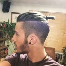 man bun short sides undercuts men beard tattoo google search me pinterest