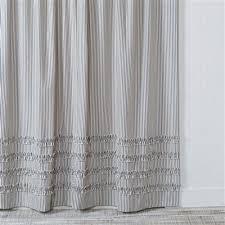 Black Ruffle Shower Curtain Ticking Stripe Ruffle Shower Curtain Navy Blue U2013 Southern Ticking Co