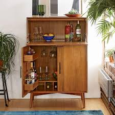 west elm bar cabinet made from fsc certified wood with our signature mid century details