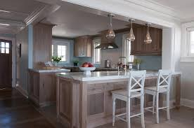 blue kitchen walls with brown cabinets brown and blue kitchens transitional kitchen