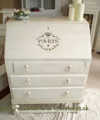 parisian style shabby chic oak bureau u2013 restored to be adored