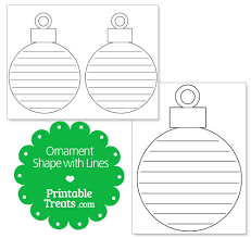 printable ornament shape with lines printable treats