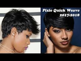 27 Piece Weave Hairstyles How To Pixie Cut 27 Piece Quick Weave 2017 U0026 2018 Youtube