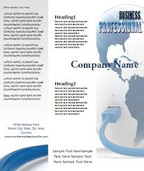 free tri fold brochure template formal word templates