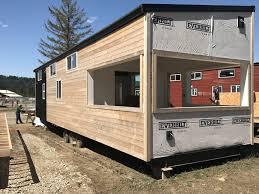 tiny house deck tiny home for four tiny portable cedar cabins fully customized