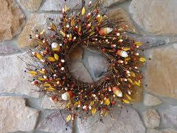 fall wreath candy corn decoration halloween wreath twig