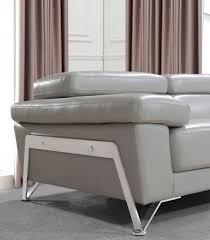 Light Gray Leather Sofa by Divani Casa Encore Modern Grey Leather Sofa Set