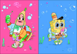 natali koromoto recreating spongebob squarepants
