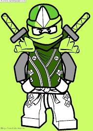 Dessin colorié  Lloyd  Ninjago vert par un invité  Sans Dépasser