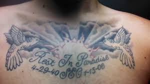 collection of 25 memorial on chest