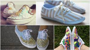 diy designs to spice up a pair of canvas shoes