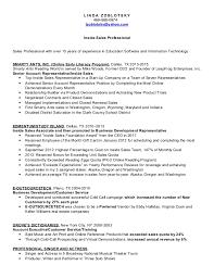 inside sales resume zoblotsky inside sales representative resume copy