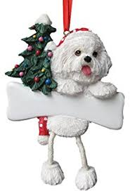 bichon frise in sleigh ornament new pet