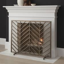 decorative fireplace screens crate and barrel