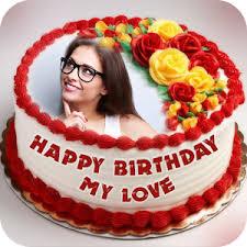 photo cake name photo on birthday cake by apk