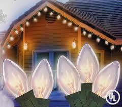 set of 25 transparent clear random twinkling c7 lights