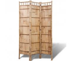b 3 panel bamboo room divider screen paravent foldable partition