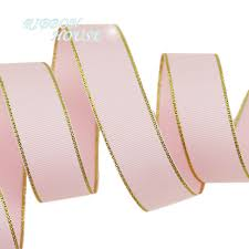 christmas ribbon wholesale 10 yards lot gold edge pink grosgrain ribbon wholesale gift