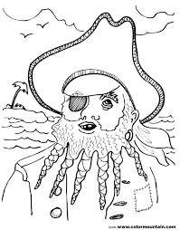 free pirate coloring page create a printout or activity