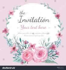 Wedding Invitation Greeting Cards Flower Wedding Invitation Card Save Date Stock Vector 295391747