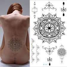 compass tattoo under breast 1pc black men women big scar cover flash tattoo compass dreamcatcher
