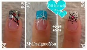 3 winter french tip nail designs winter nail art ideas 3
