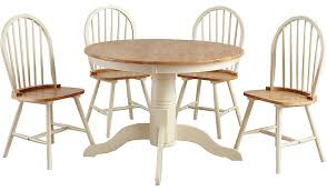 Yvette Circular Dining Table And  Chairs Oak Effect And Cream - Cream kitchen table