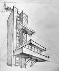 simple pencil sketch of a building great drawing