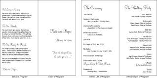 vow renewal program templates hadil s wedding program template personalized