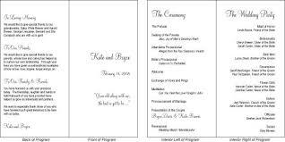 Sample Wedding Program Templates Hadil U0027s Blog Elegant Wedding Program Template Personalized