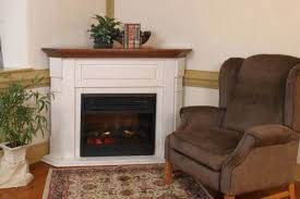 Amish Electric Fireplace Amish Corner Electric Fireplace Mantel With Insert Corner