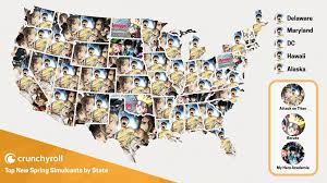 Map Of The 50 States Meta 42 Out Of The 50 States Are Watching Attack On Titan