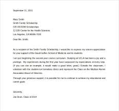 scholarship thank you letter best business template