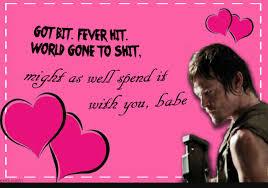 Walking Dead Valentines Day Meme - love amc walking dead valentines day card plus walking dead