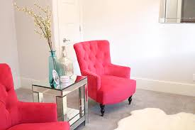 fuschia chair new fuchsia chairs in my living room a slice of style