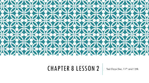 chapter 7 and 8 test days dec 11th and 12th ppt download
