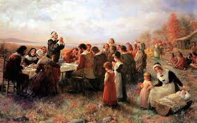 the thanksgiving at plymouth by jennie brownscombe 1914 pilgrim museum plymouth ma 2 edit jpg