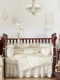 victorian ivory and champagne baby bedding 9 piece nursery set