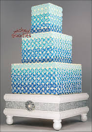 ombre bling wedding cake