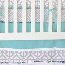 Yellow And Grey Baby Bedding Sets by Mod Lattice Crib Bedding Set In Aqua And Gray By Caden Lane
