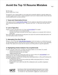 avoiding resume mistakes 10 common resume mistakes most make